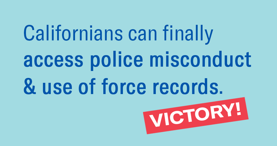 Access to CA Police Records | ACLU of Southern California
