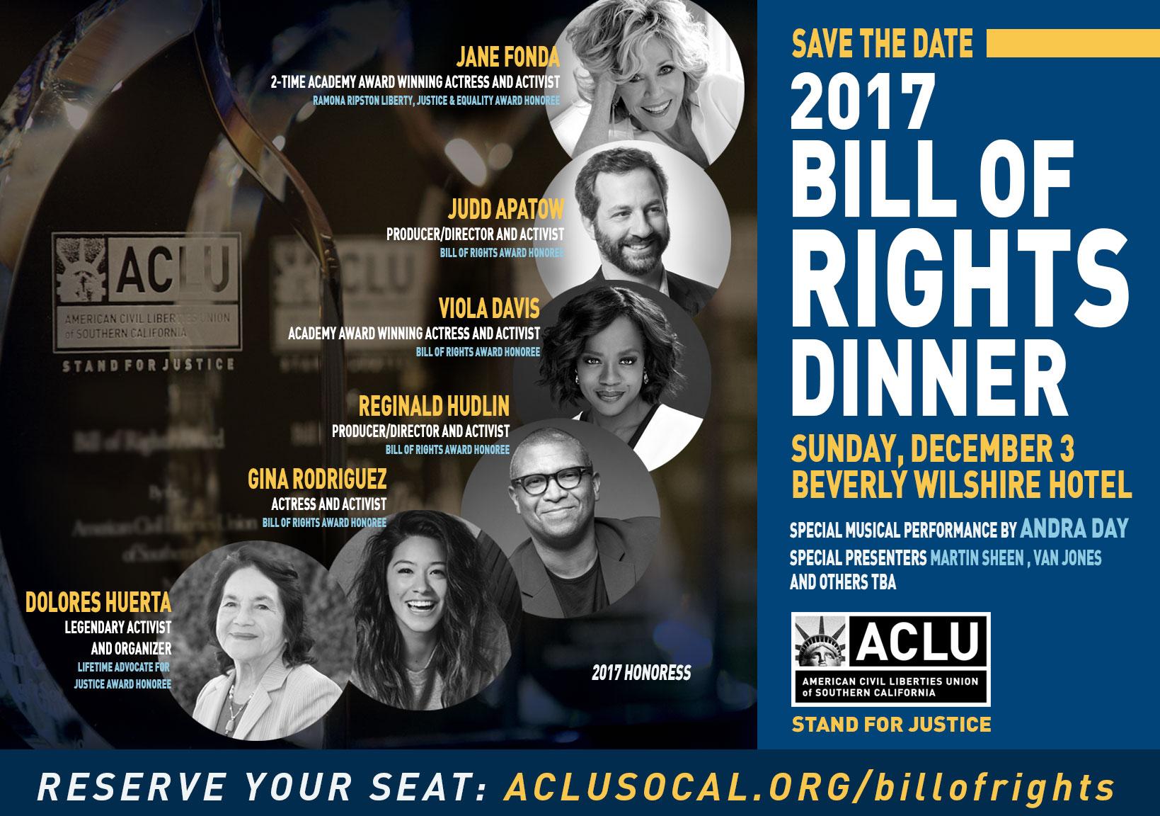 2017 ACLU SoCal Bill of Rights dinner