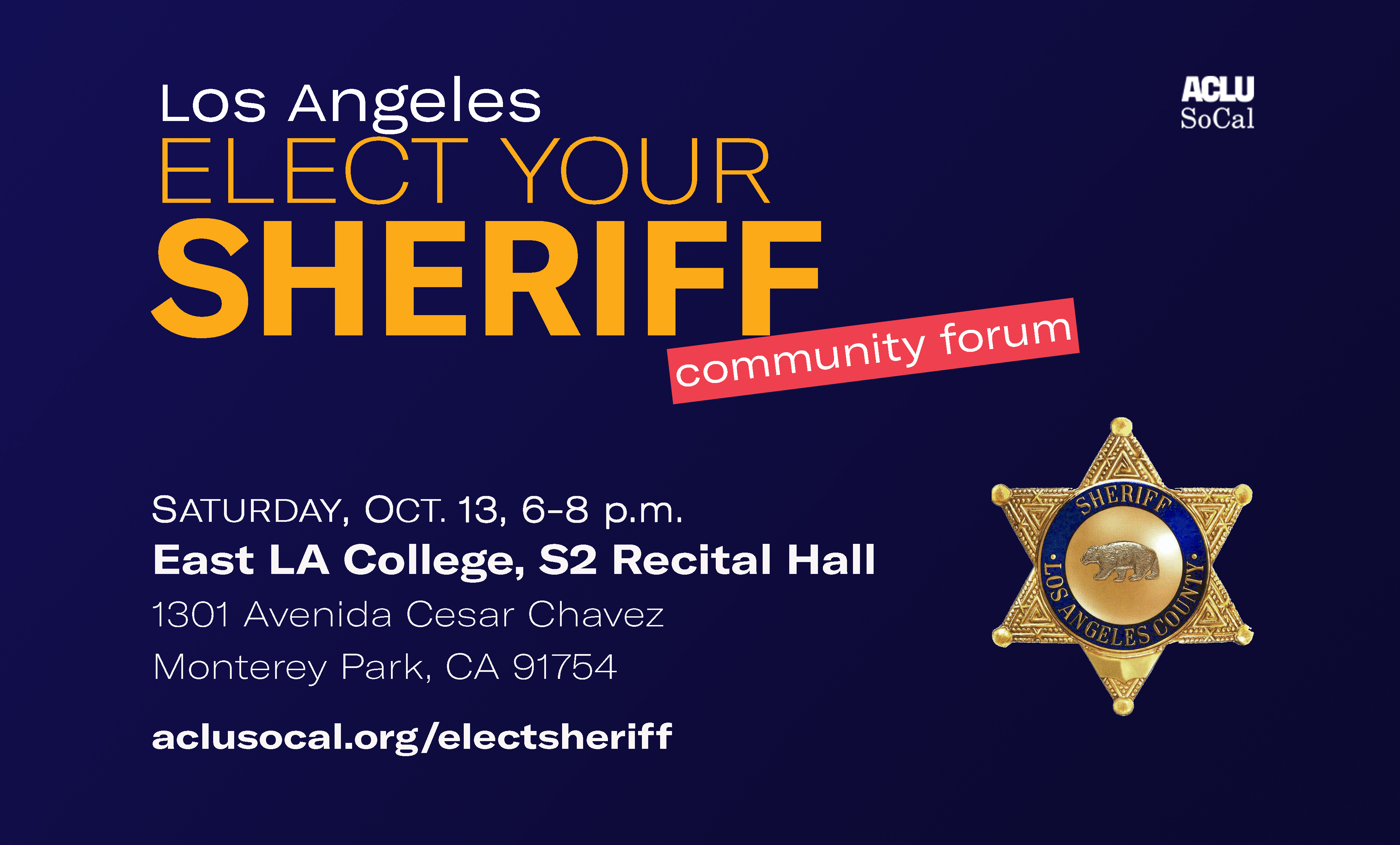 Los Angeles Elect Your Sheriff Community Forum