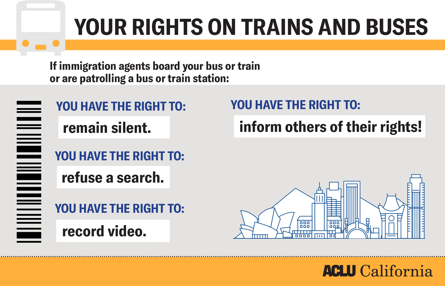 Know your rights on buses and trains