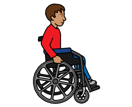 A man using a wheelchair