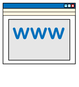 Web browser with the letters WWW on it