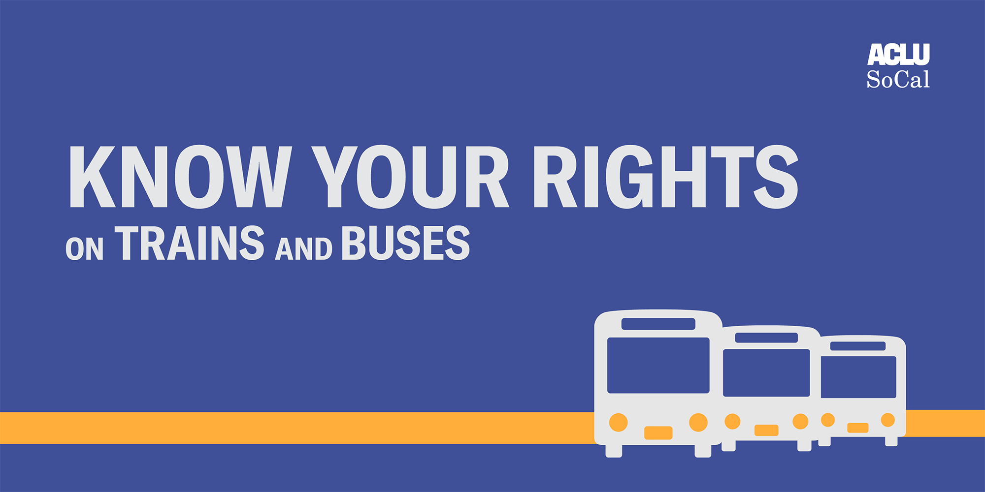 Know your rights on trains and buses