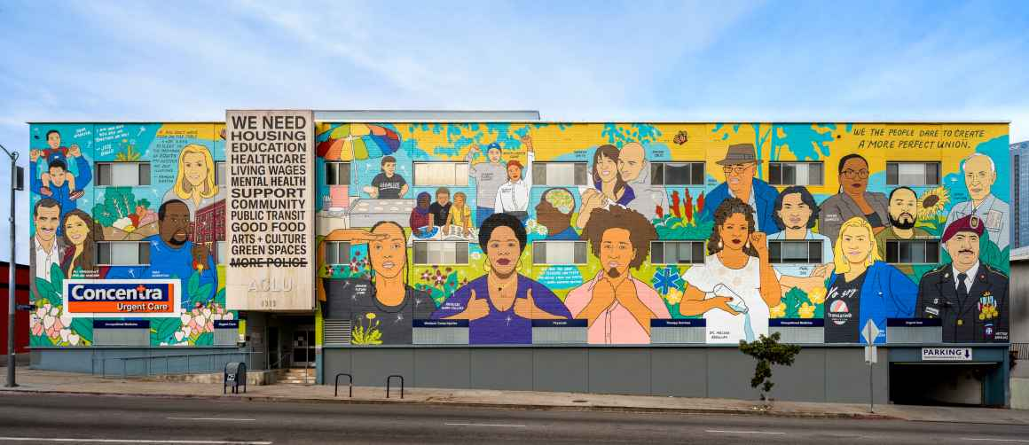 ACLU SoCal mural - The Care We Create - Photograph by Elon Schoenholz