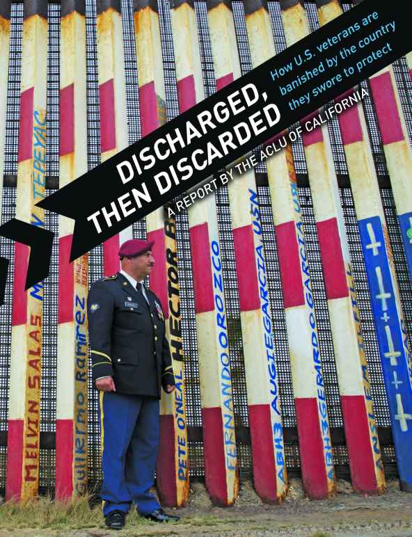 U.S. Army Veteran Hector Barajas in his uniform, standing near the U.S. border. Discharged, then Discarded: How U.S. Veterans are Banished by the Country They Swore to Protect