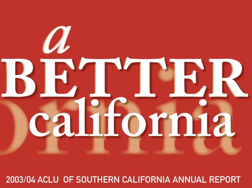 Annual Report 2003 - 2004