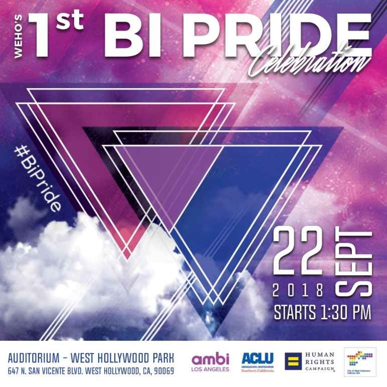 1st annual Bi Pride Celebration in West Hollywood, CA