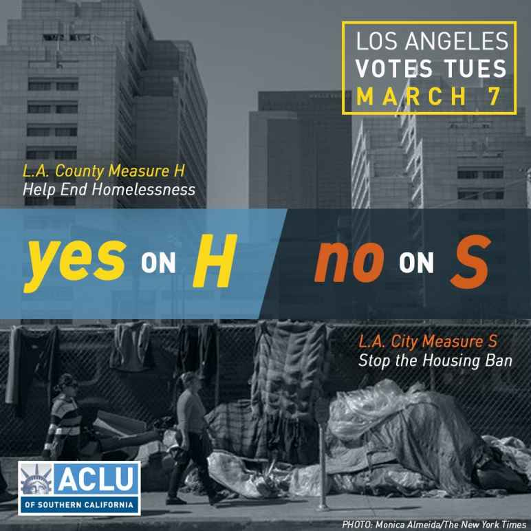 Yes on H No On S