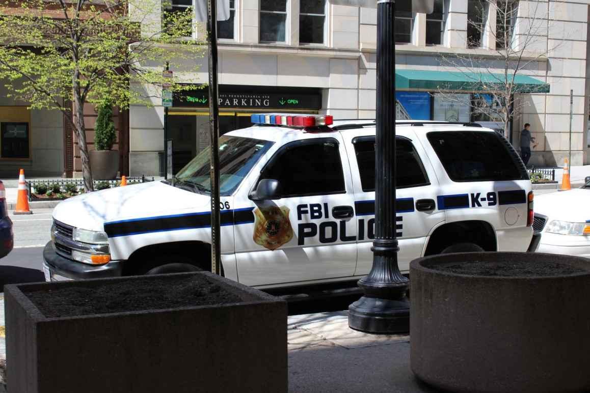 FBI SUV parked on the street