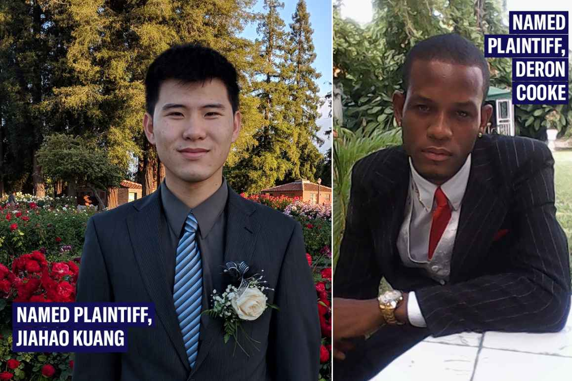 Named plaintiffs in Kuang v. U.S. Dept. of Defense: Jiahao Kuang on the left, Deron Cooke on the right