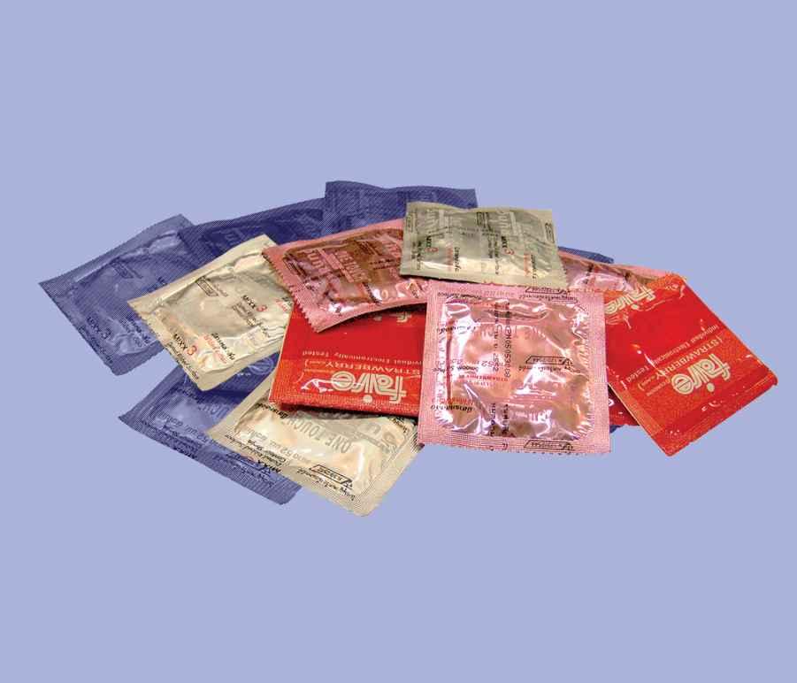 A pile of condoms