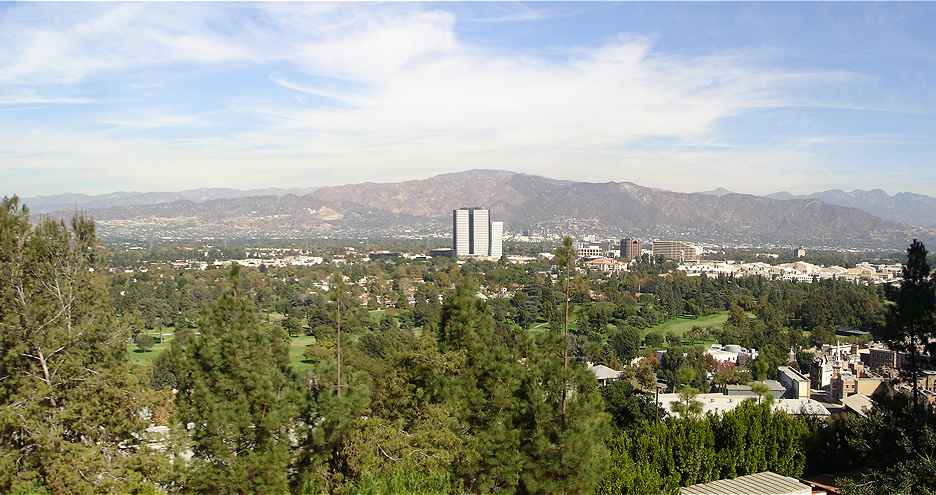 View of the eastern San Fernando Valley from Universal Studios Hollywood The Verdugo Mountains are in the backround