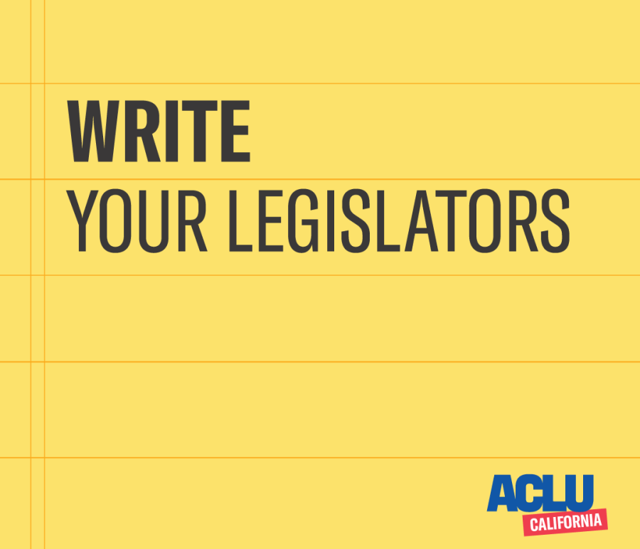 Write your legislators