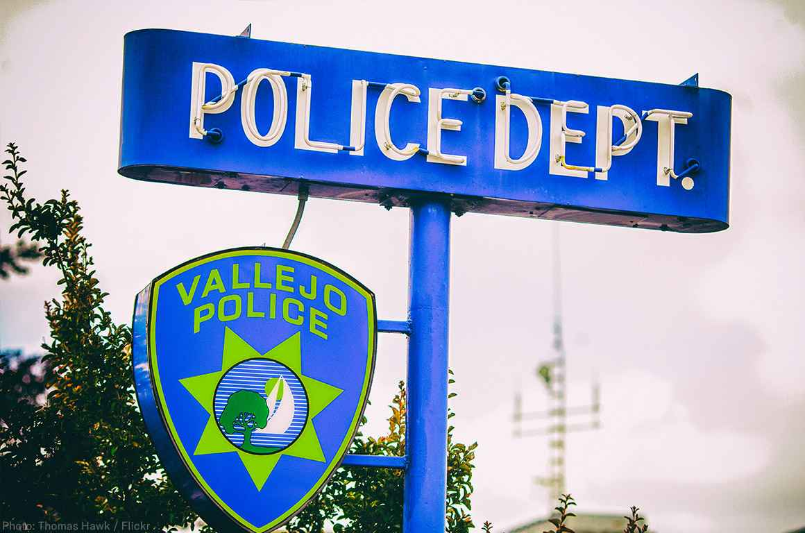 Vallejo police sign