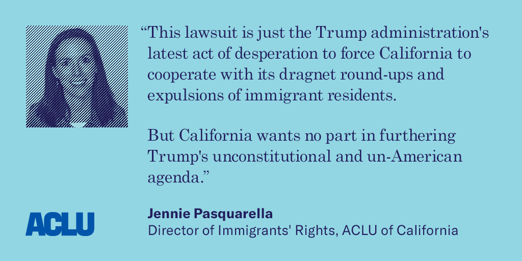 ACLU of California Statement On Trump Administration\'s Lawsuit ...