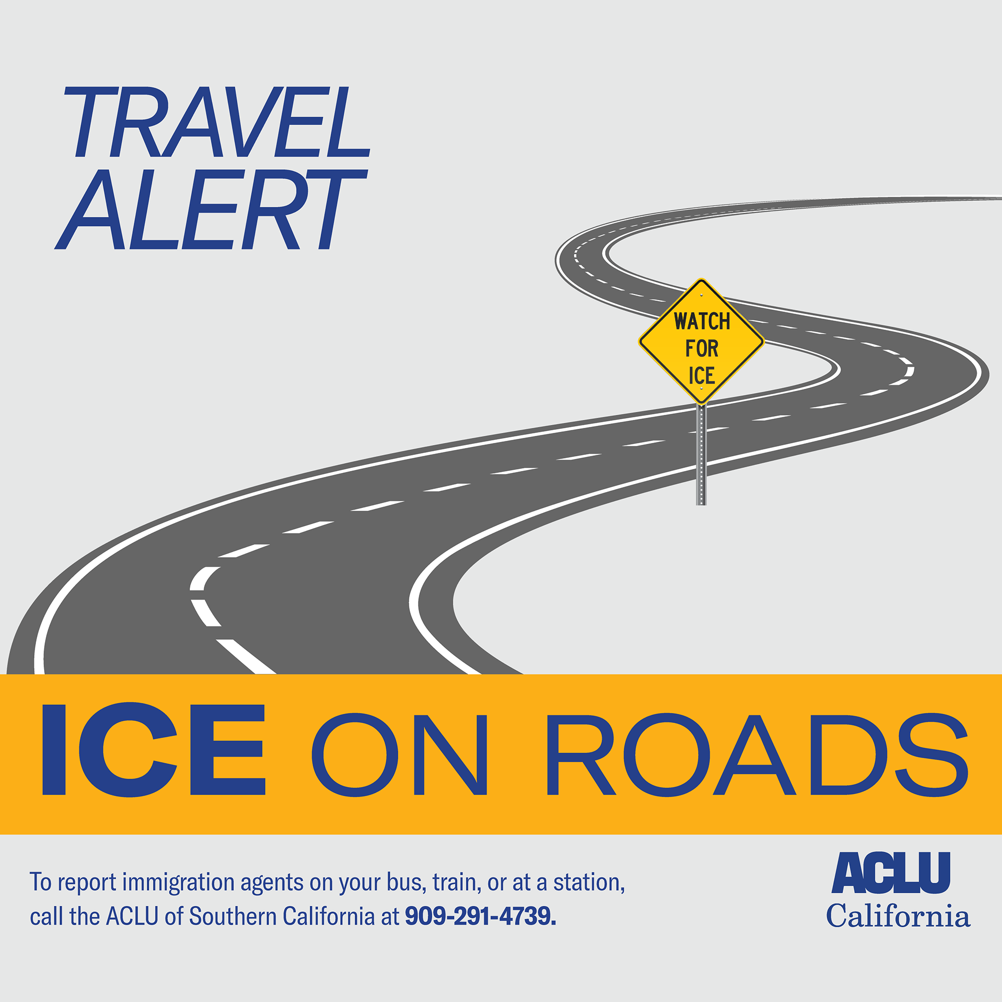 Travel alert: ICE on roads