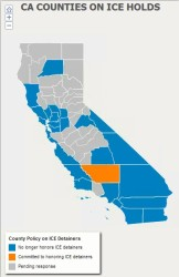 "CA Counties Interactive Map See which counties have said ""no"" to ICE holds."